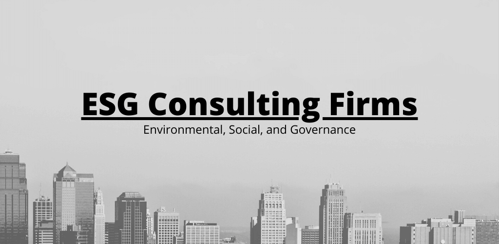 The Top 10 ESG Consulting Companies in 2020