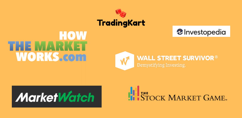 free stock market games logos