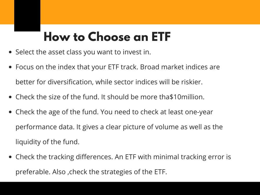 how to choose etfs